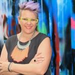 Kirsten with graffit background